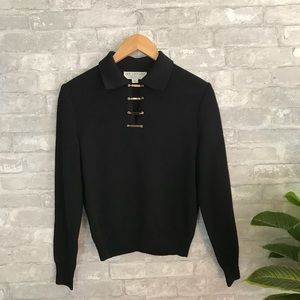 St. John collection black knit sweater